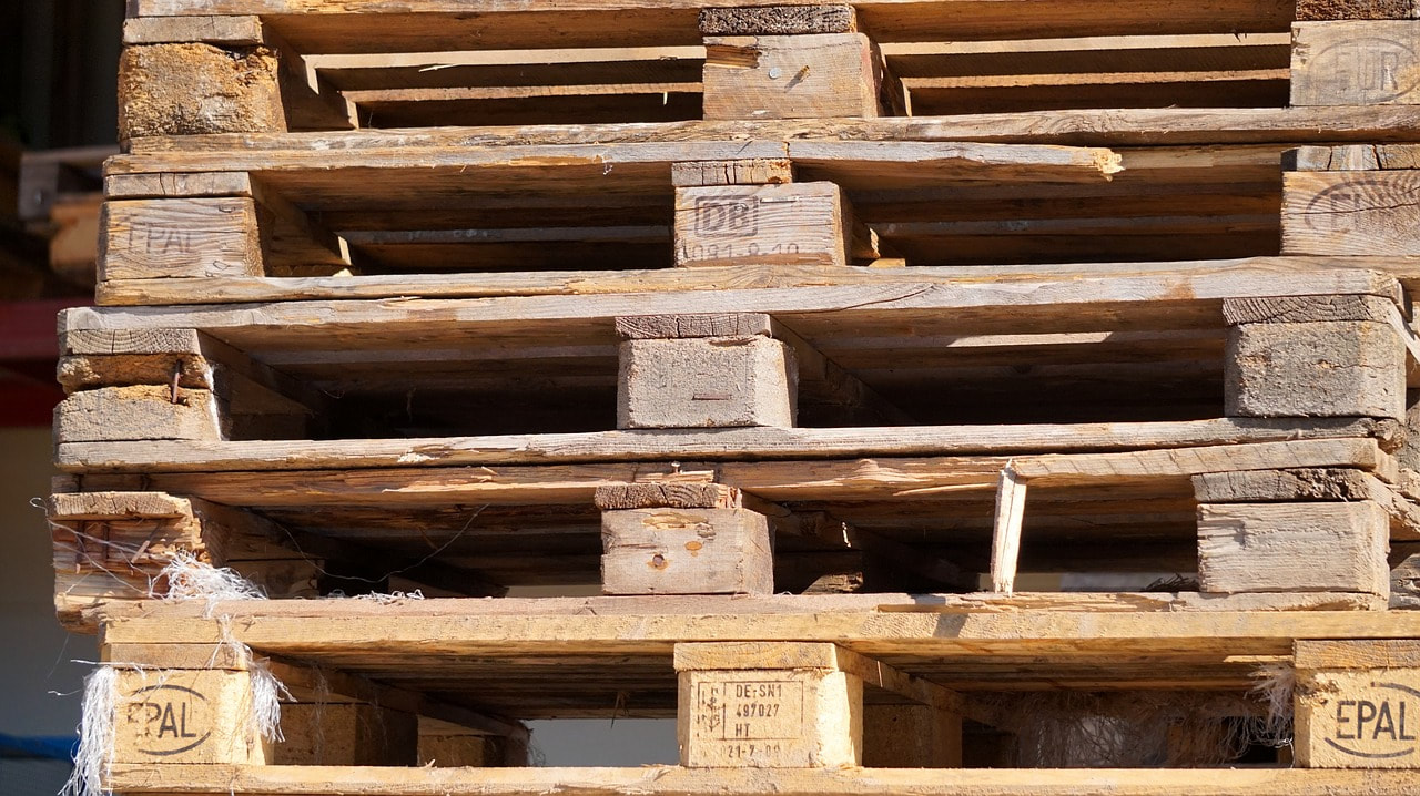 wooden pallets for export
