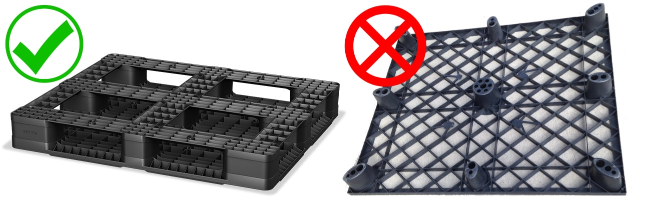 rackable vs non-hackable plastic pallet