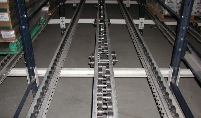 Flow Rack for Rackable Pallets