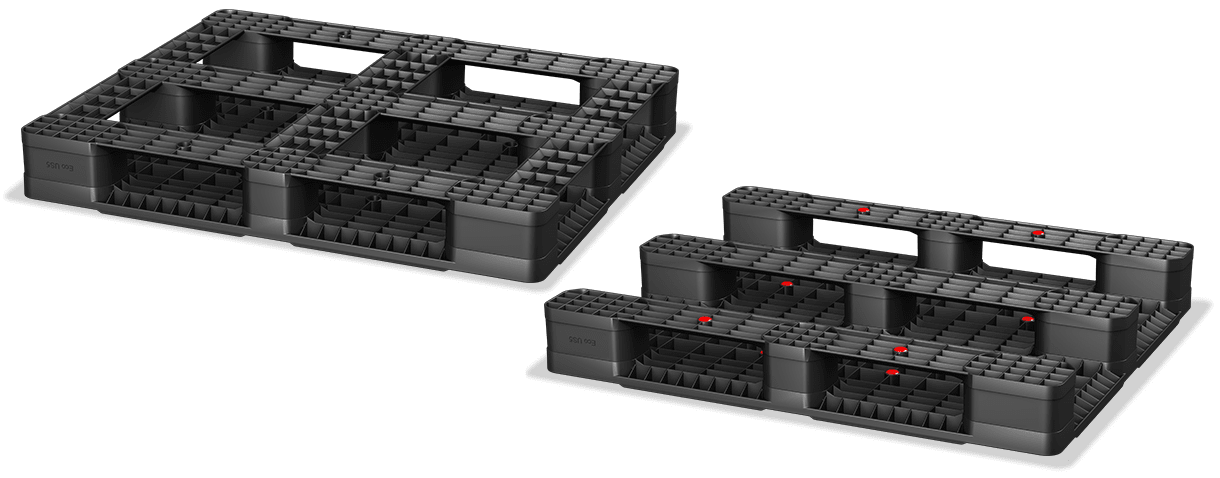 plastic pallet full frame vs three runner