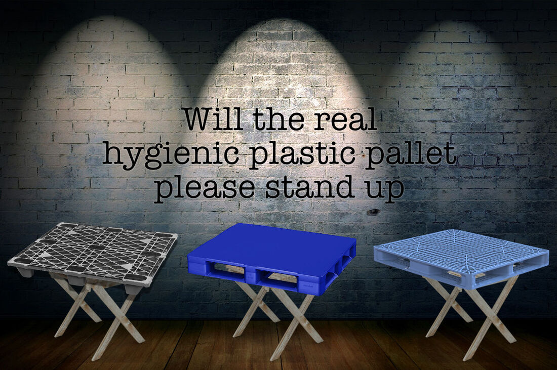 real hygienic plastic pallets